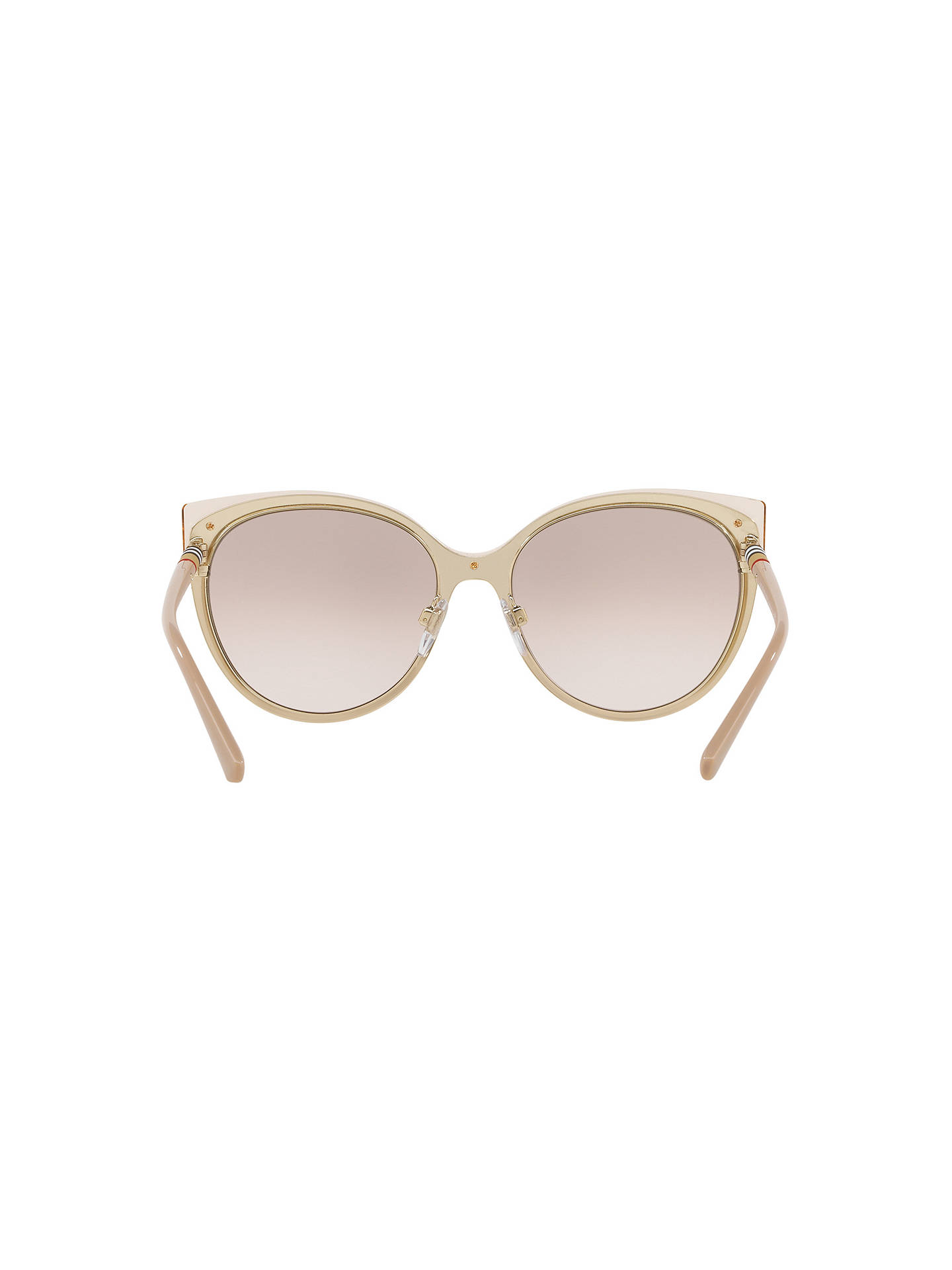 BuyBurberry BE3096 Women's Cat's Eye Sunglasses, Tan/Mirror Gold Online at johnlewis.com