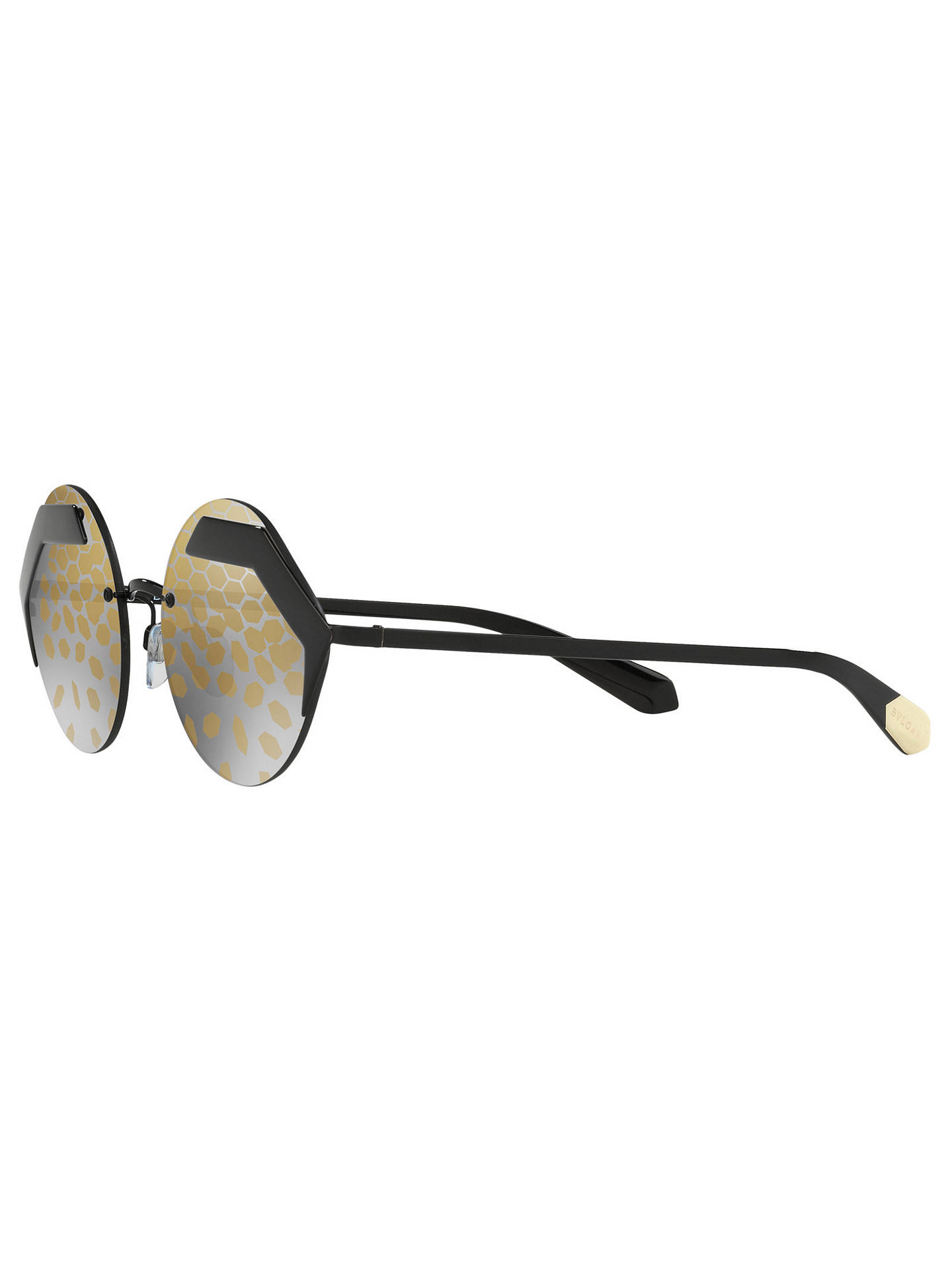 BuyBVLGARI BV6089 Women's Sunglasses, Black/Gold Online at johnlewis.com