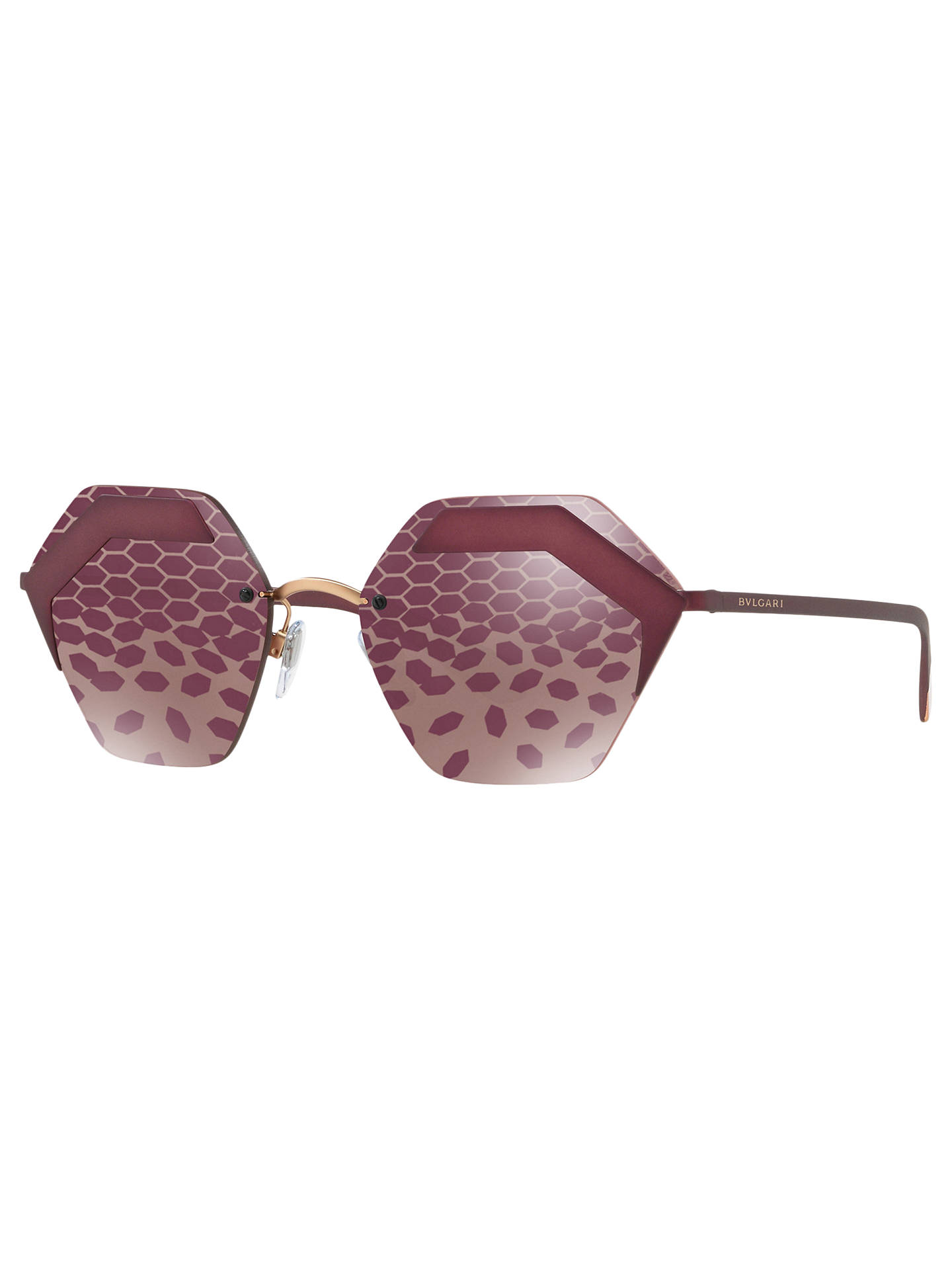 5de55992300 Buy BVLGARI BV6089 Women s Hexagonal Sunglasses