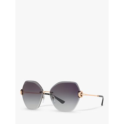 BVLGARI BV6105 Women's Hexagonal Sunglasses, Grey