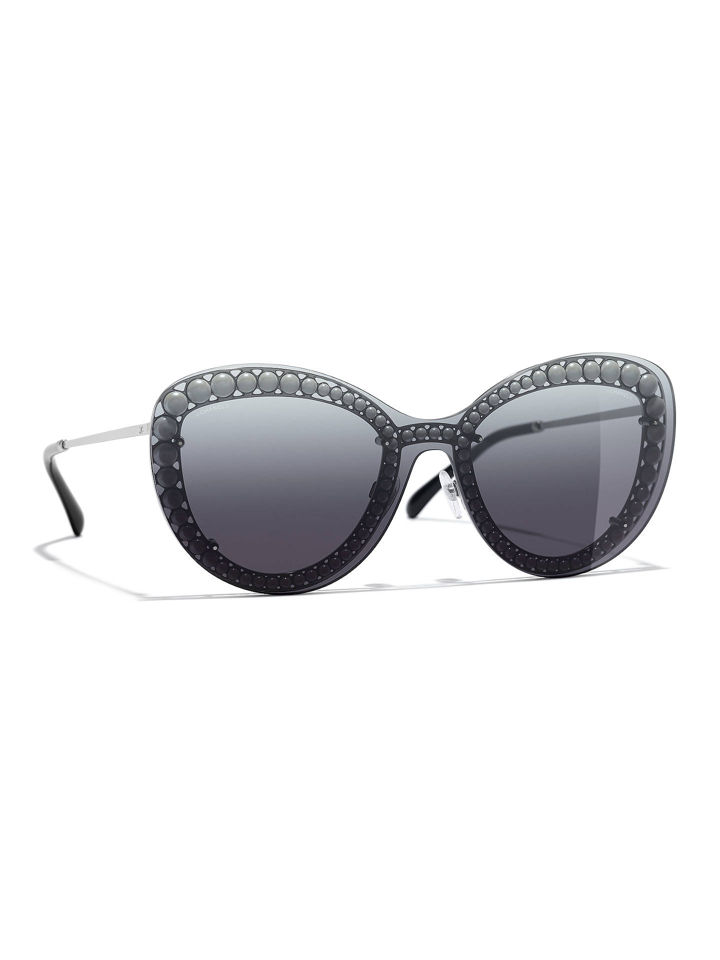 8896fcedfb7 BuyCHANEL Butterfly Sunglasses CH4236 Gunmetal Grey Gradient Online at  johnlewis.com ...