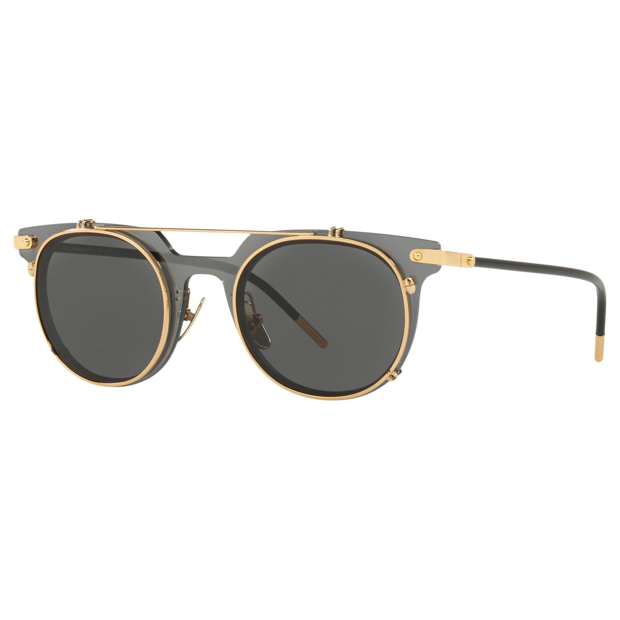 Dolce & Gabbana Dolce & Gabbana DG2196 Women's Oval Sunglasses, Grey