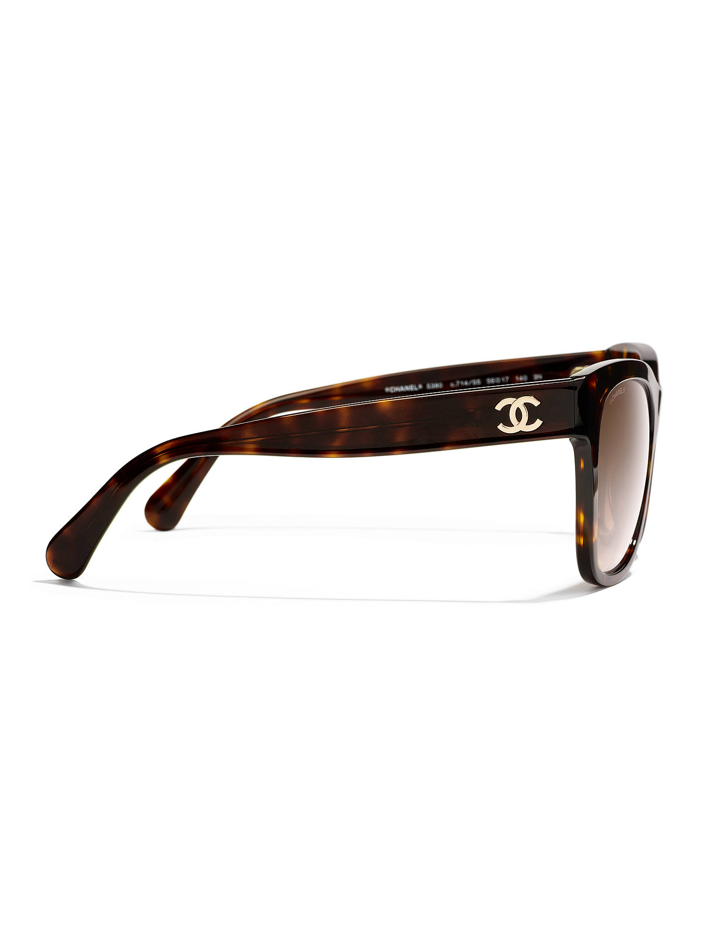 BuyCHANEL Square Sunglasses CH5380 Tortoise/Brown Gradient Online at johnlewis.com