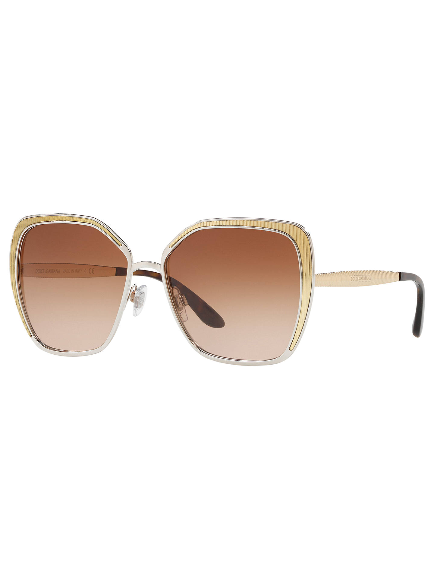 64bc609de026 Dolce   Gabbana DG2197 Women s Geometric Sunglasses at John Lewis ...