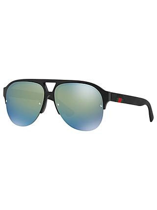 Gucci GG0170S Men's Aviator Glasses, Black
