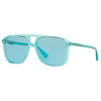 Gucci GG0262 Women's Square Sunglasses, Blue