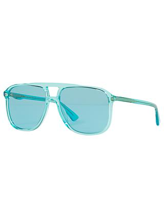 Gucci GG0262 Women's Square Sunglasses, Blue