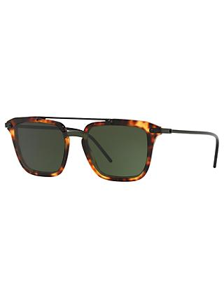 Dolce & Gabbana D4327 Women's Square Sunglasses, Tortoise/Green