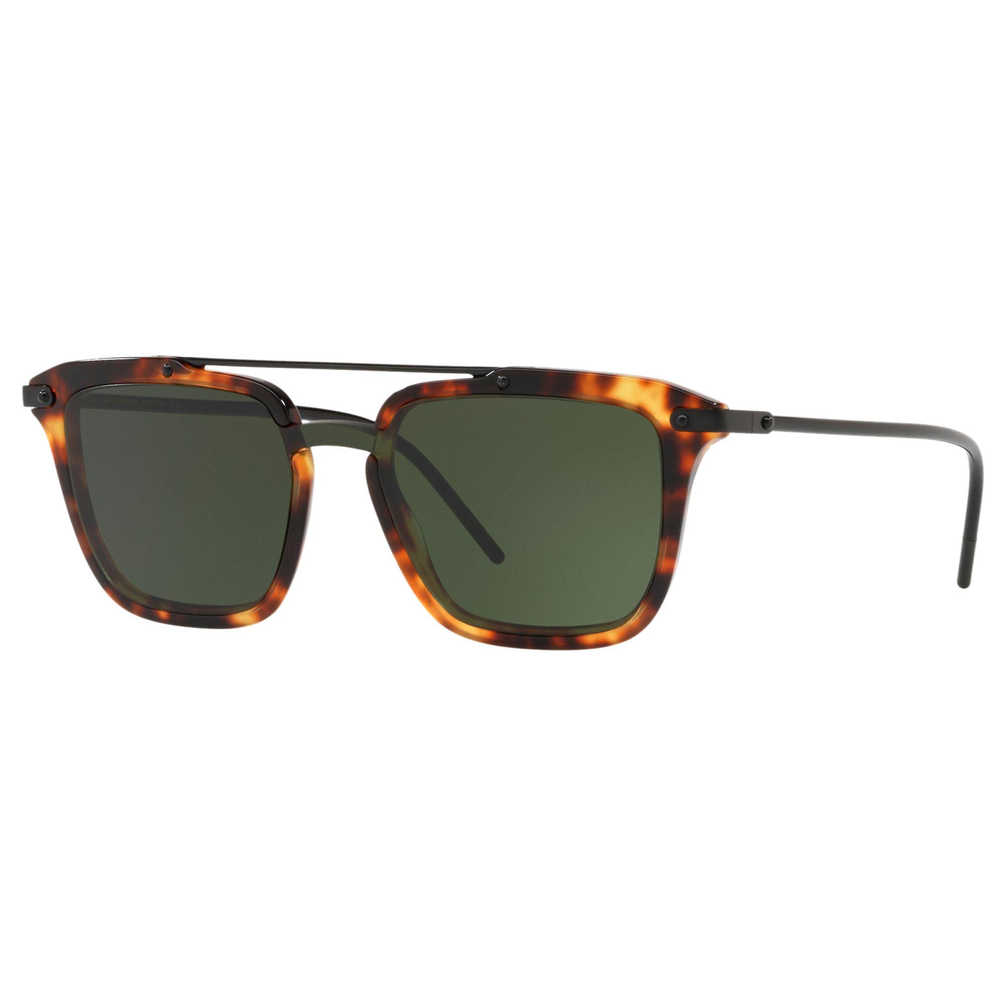 Dolce & Gabbana Dolce & Gabbana D4327 Women's Square Sunglasses, Tortoise/Green