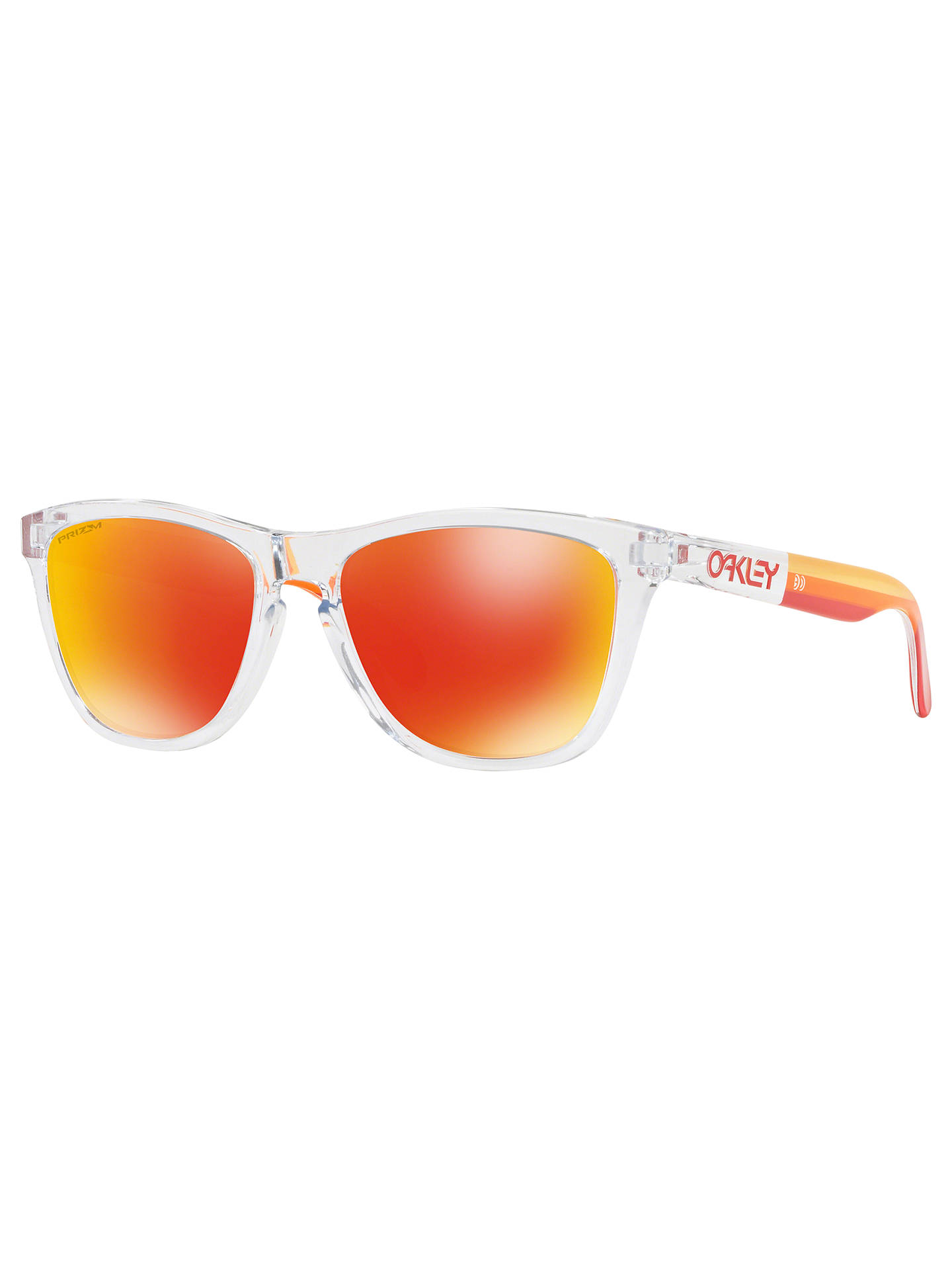 74521a7d6e ... discount code for buyoakley oo9013 mens frogskins grips square  sunglasses clear online at johnlewis. da5c4 promo code for oakley oo24 29855  ...