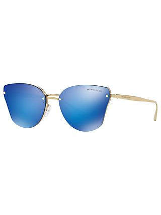 Michael Kors MK2068 Women's Sanibel Cat's Eye Sunglasses, Tan/Blue