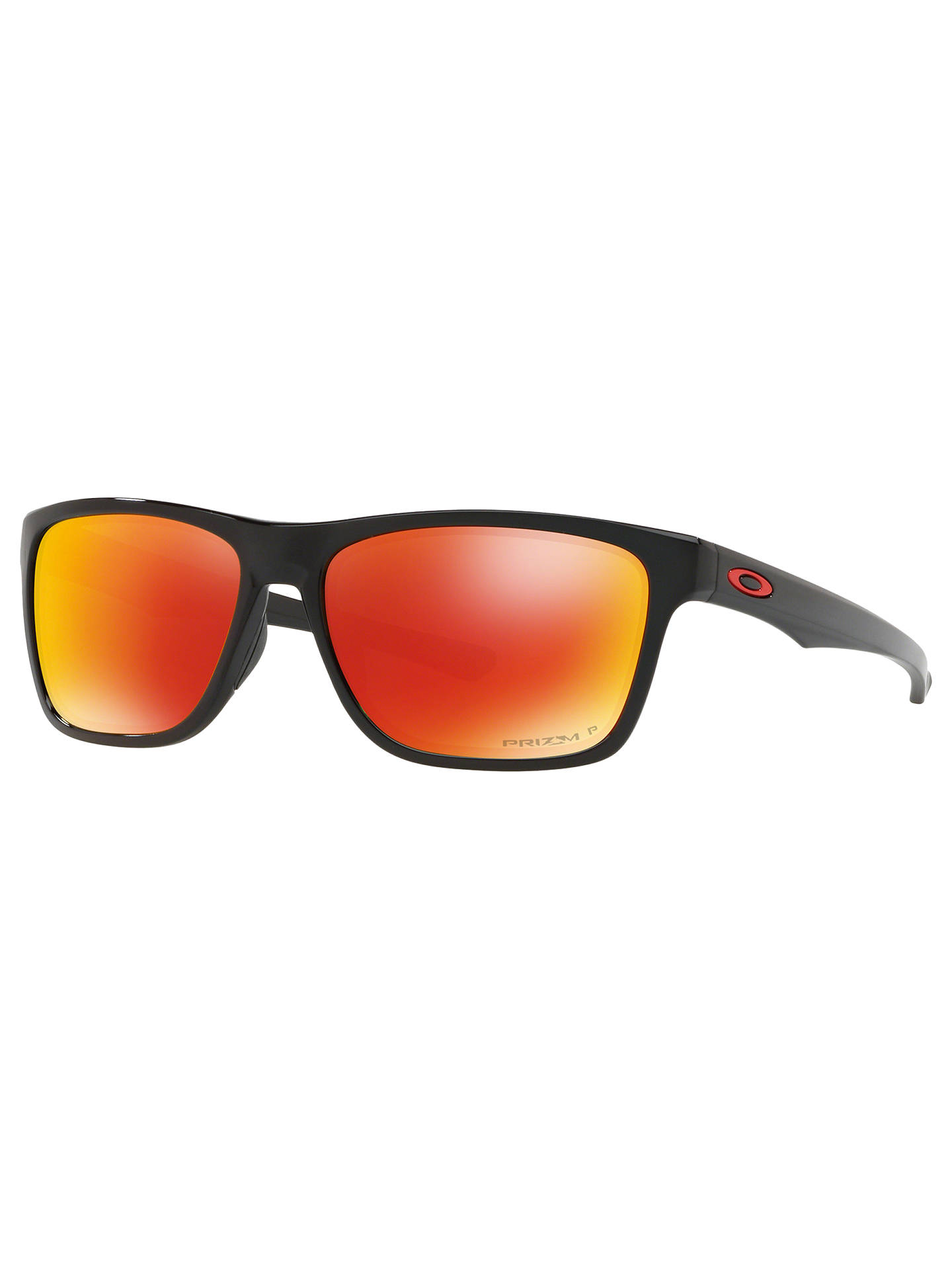 a49e14ceb Buy Oakley OO9334 Men's Holston Polarised Square Sunglasses, Black/Mirror  Orange Online at johnlewis ...