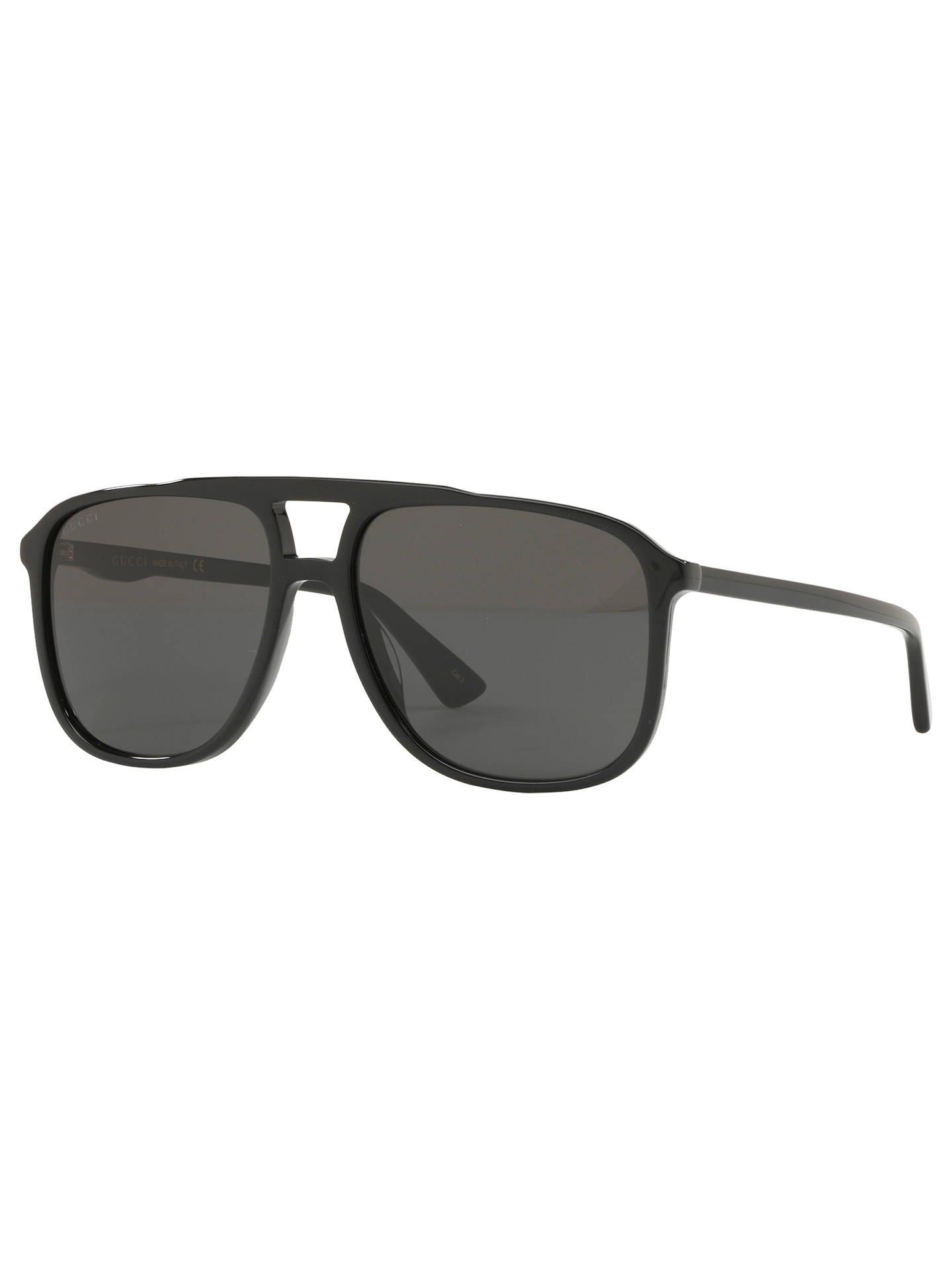 c12e273a4 Buy Gucci GG1053 Women's Square Sunglasses, Black Online at johnlewis. ...