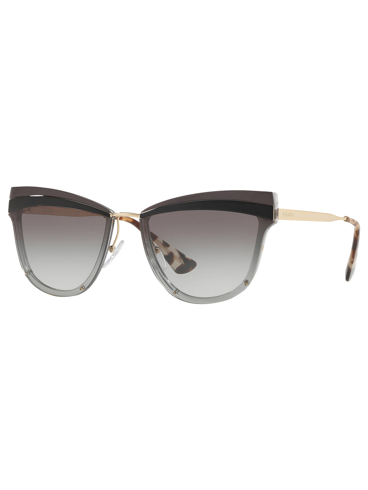 72734a82d8 Buy Prada PR 12US Cat's Eye Sunglasses, Gold/Grey Gradient Online at  johnlewis.