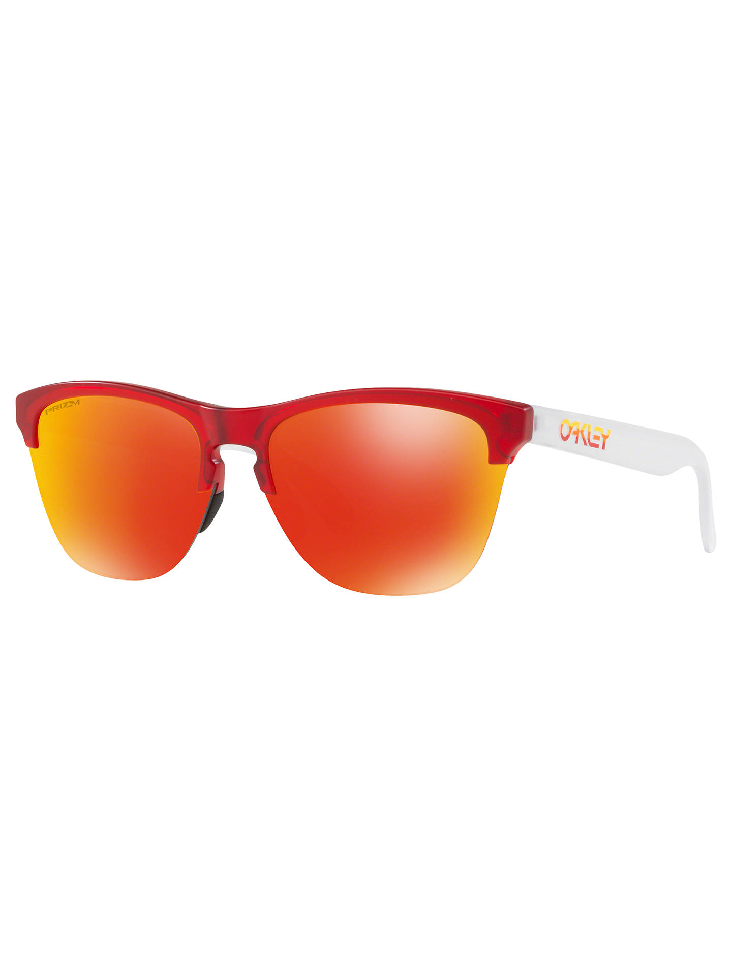 27bb0c930a2 Oakley OO9374 Men s Frogskins Lite Round Sunglasses at John Lewis ...