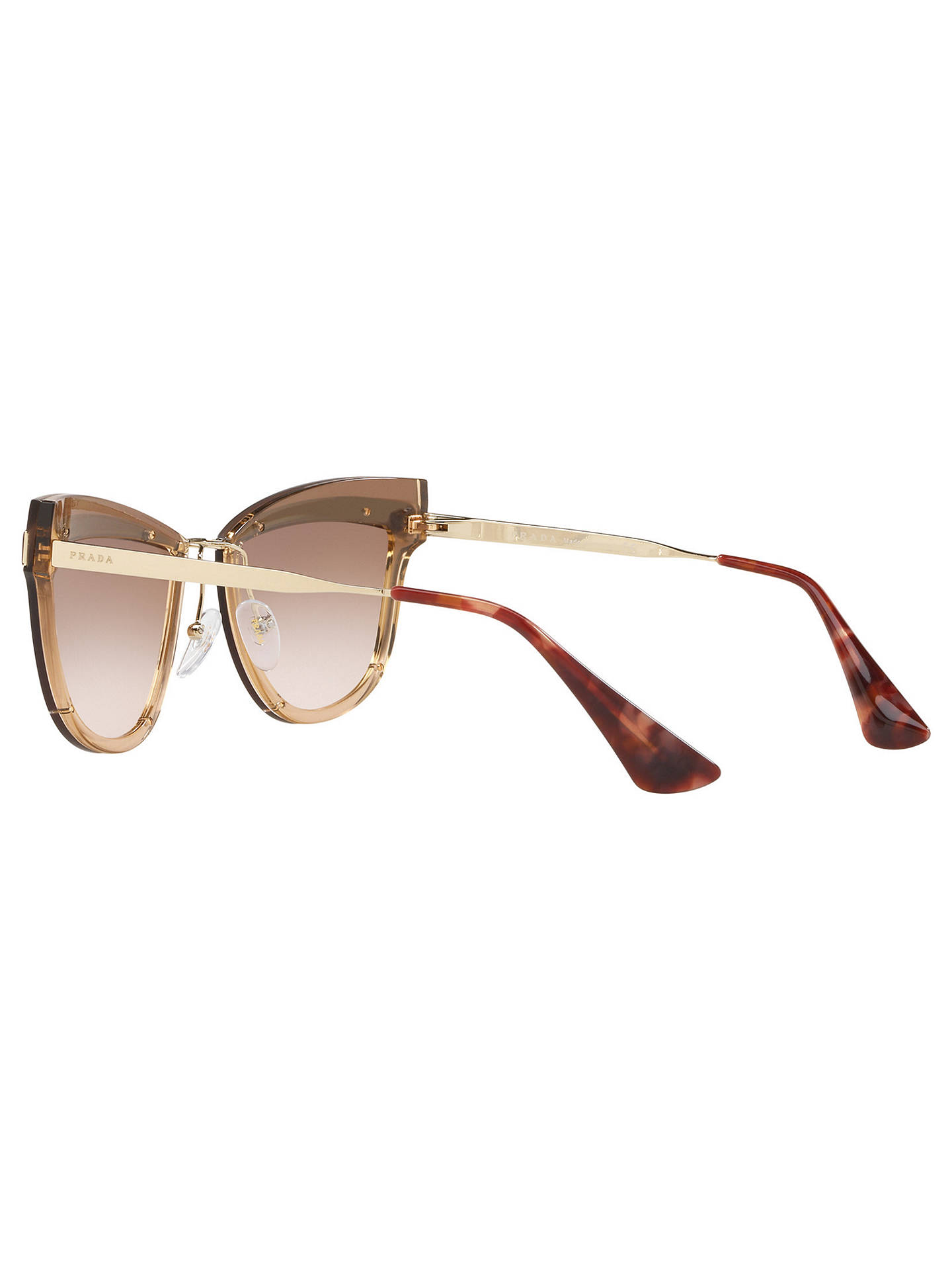079bcc59deb35 ... where can i buy buyprada pr 12us womens cats eye sunglasses rose gold  brown online at