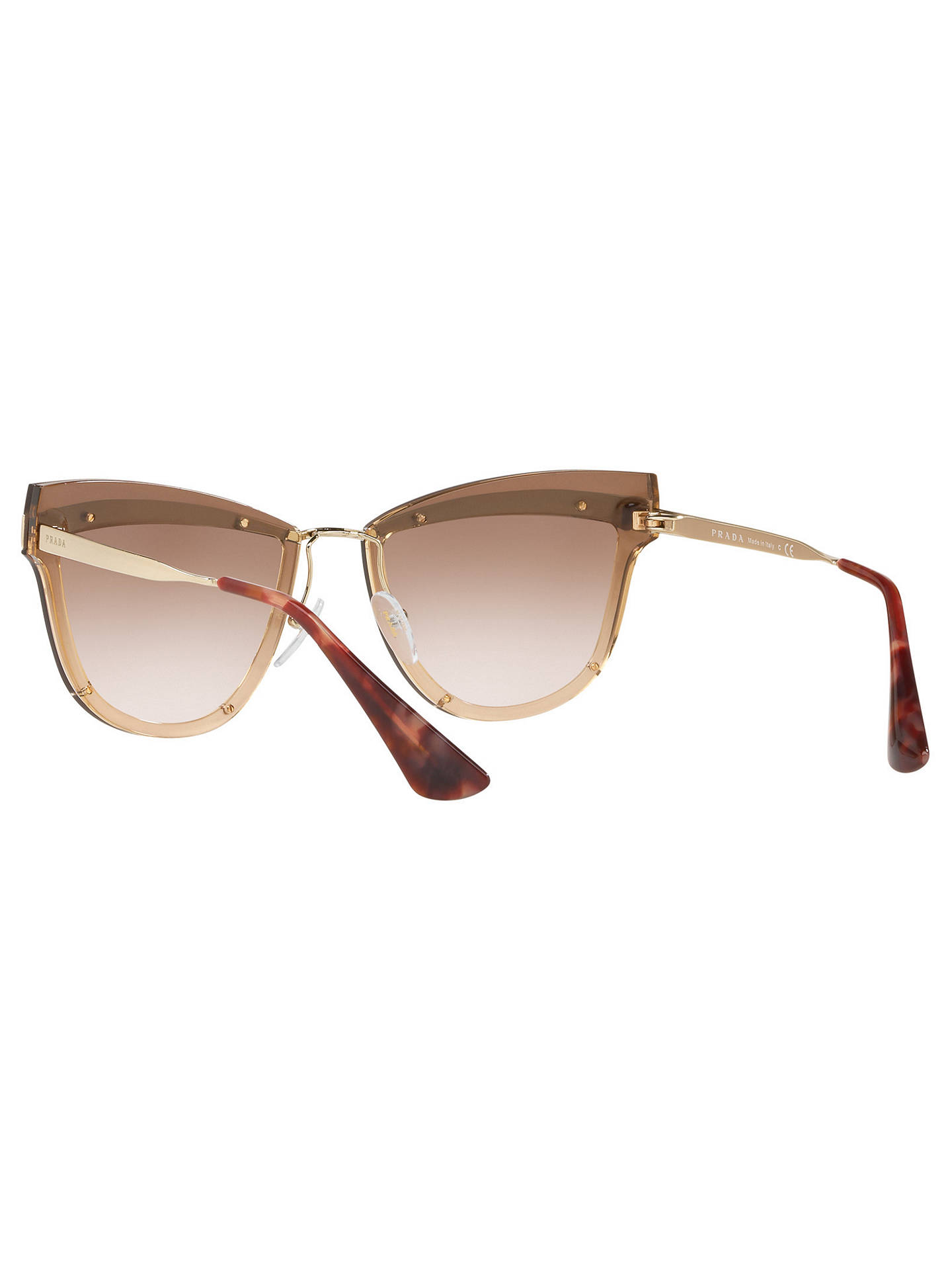 Buy Prada PR 12US Women's Cat's Eye Sunglasses, Rose Gold/Brown Online at johnlewis.com
