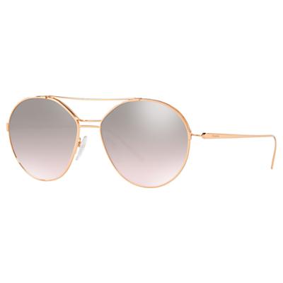 Prada 56US Women's Geometric Sunglasses, Gold