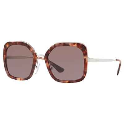 Prada 57US Women's Square Sunglasses, Brown