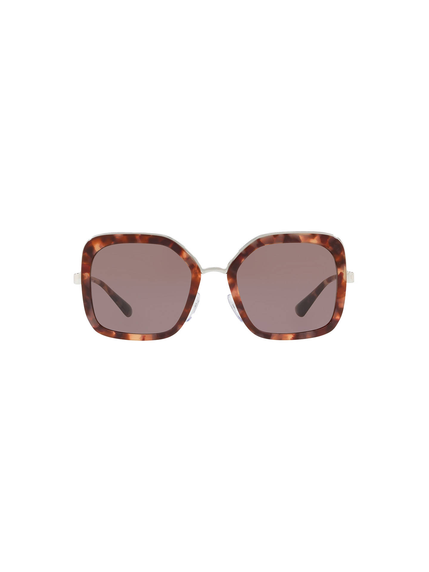 298f6a7a272f ... Buy Prada 57US Women's Square Sunglasses, Brown Online at johnlewis. ...