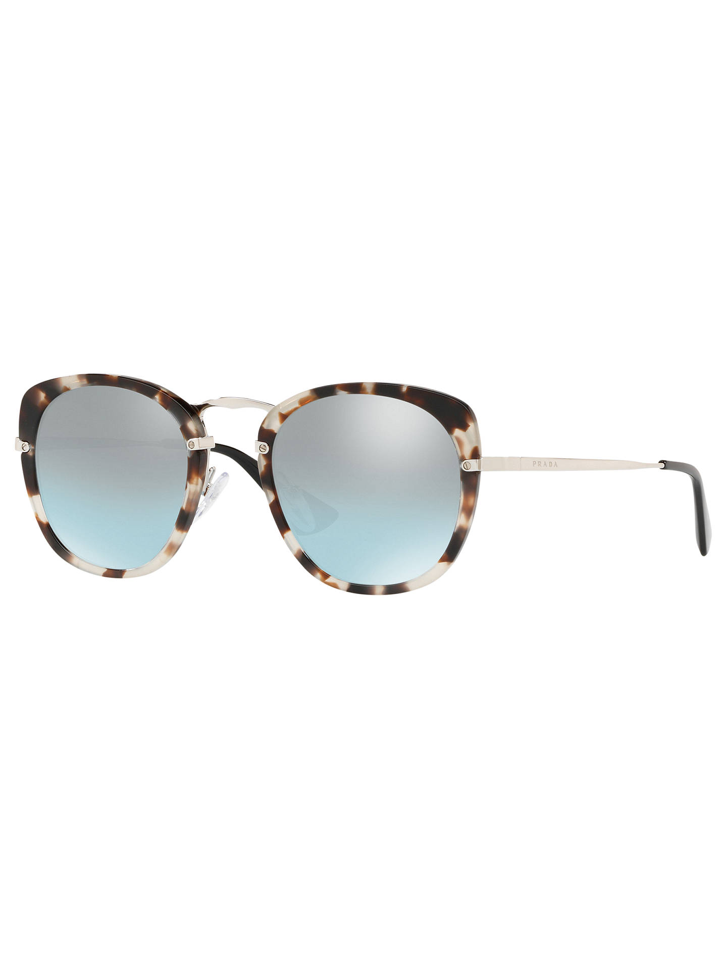 06c082feed Prada 58US Women s Round Sunglasses at John Lewis   Partners