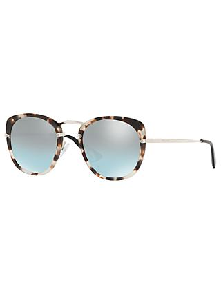 Prada 58US Women's Round Sunglasses