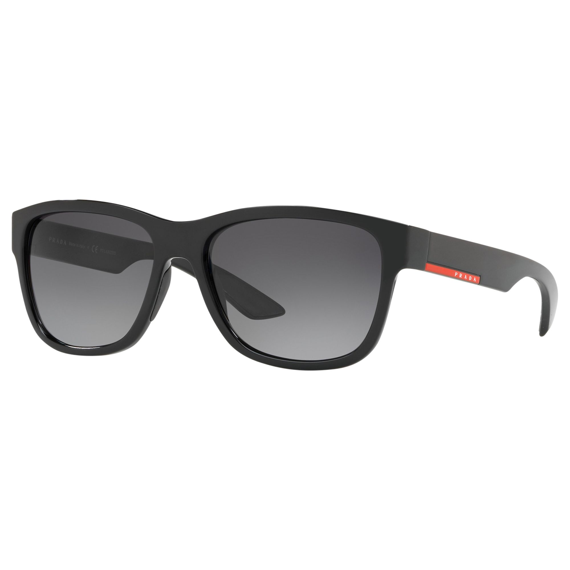 a6b3515a8ca3 Prada PS03QS Men's Rectangular Sunglasses, Black at John Lewis & Partners