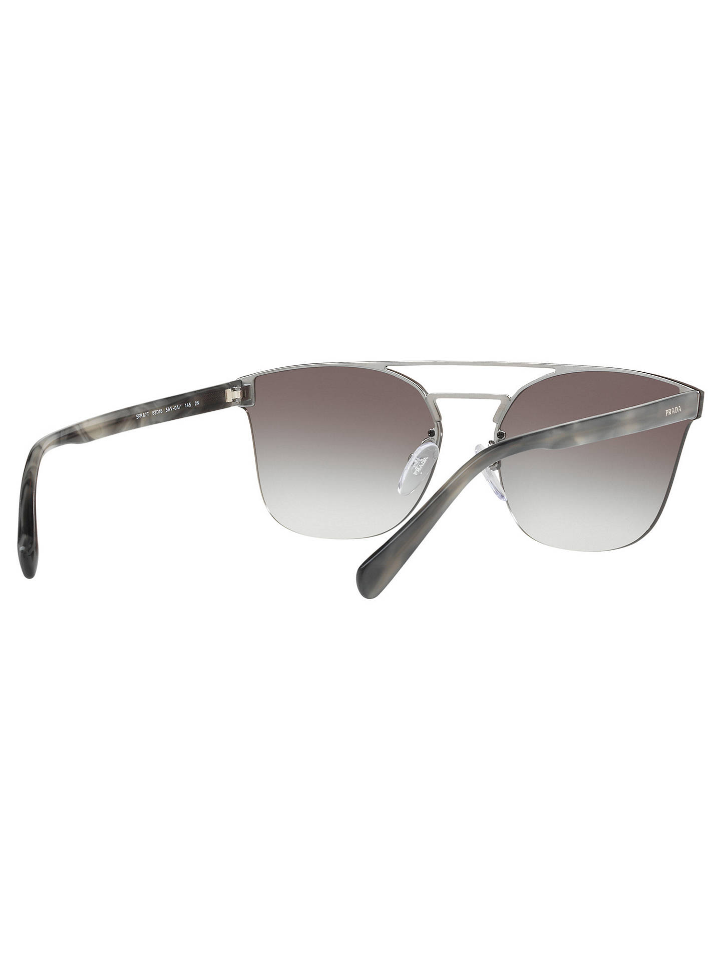 7b2007da2e6b cheapest buyprada pr 67ts womens square sunglasses silver grey gradient  online at johnlewis. 011cd 17208