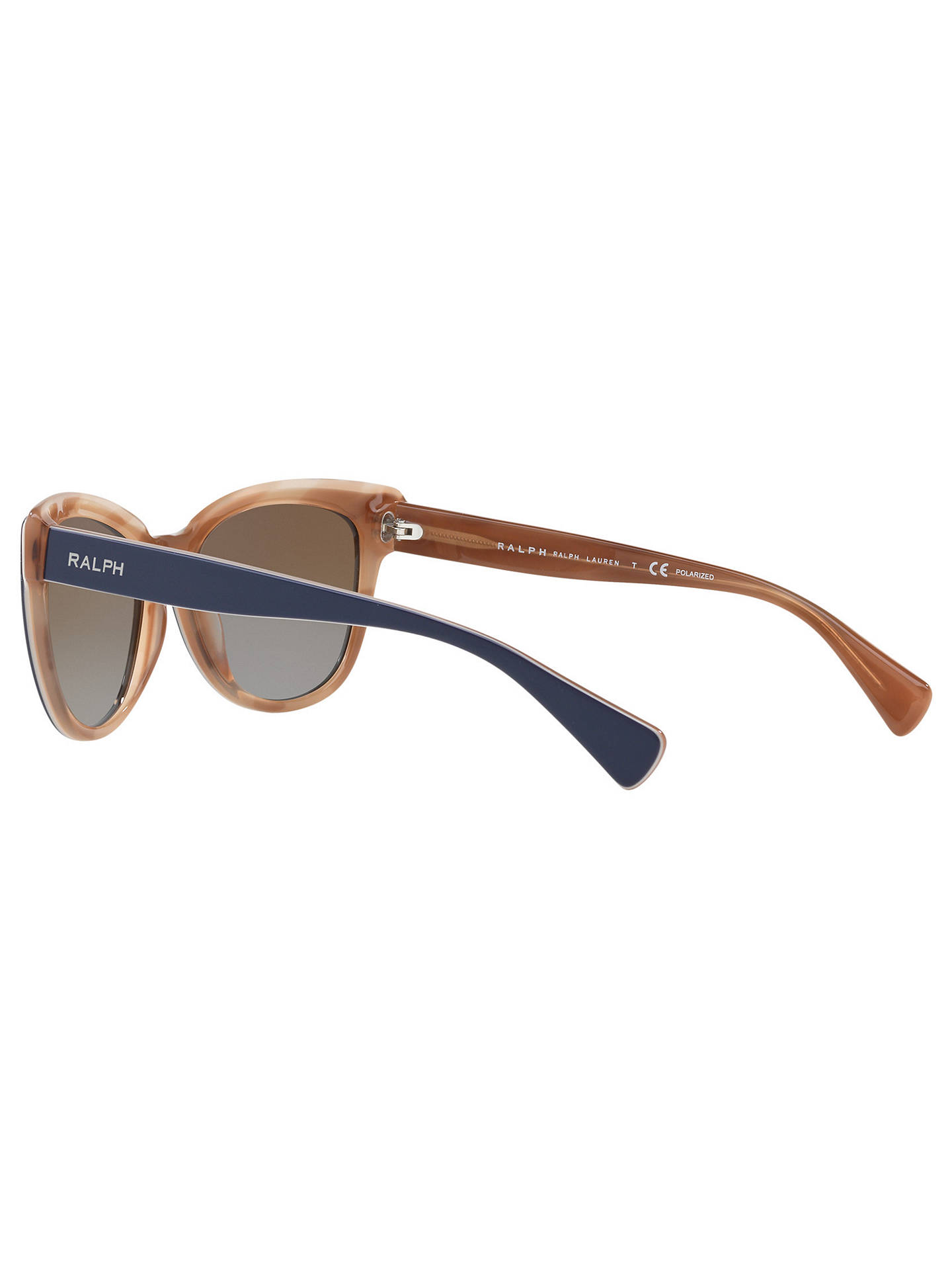 Buy Ralph RA5230 Women's Cat's Eye Sunglasses, Brown/Gold Online at johnlewis.com