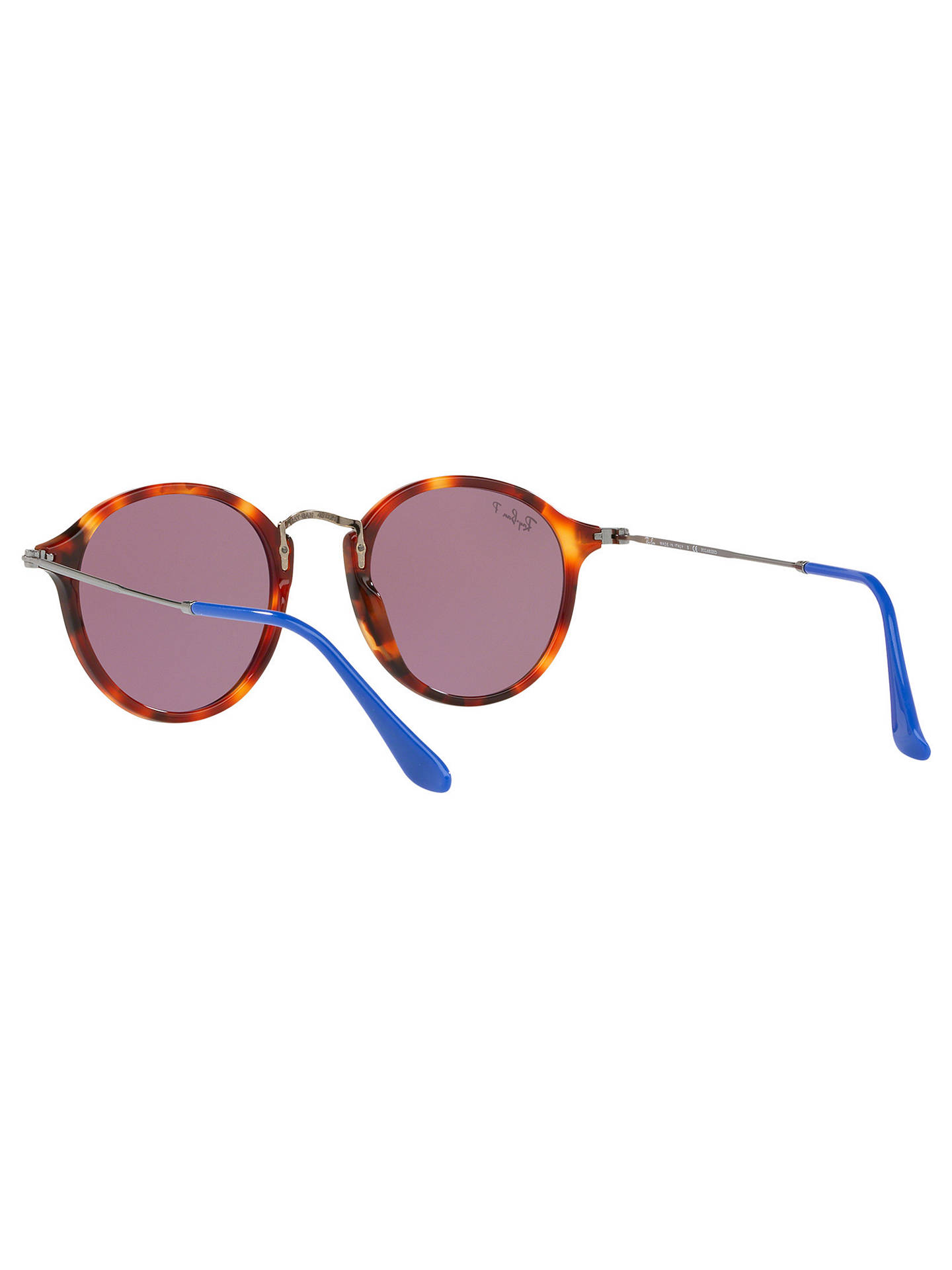 BuyRay-Ban RB2447 Round Men's Polarised Sunglasses, Tortoise/Red Online at johnlewis.com
