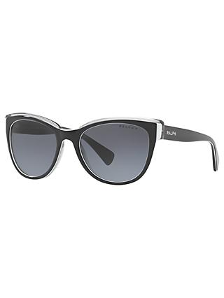 Ralph RA5230 Women's Cat's Eye Sunglasses, Black