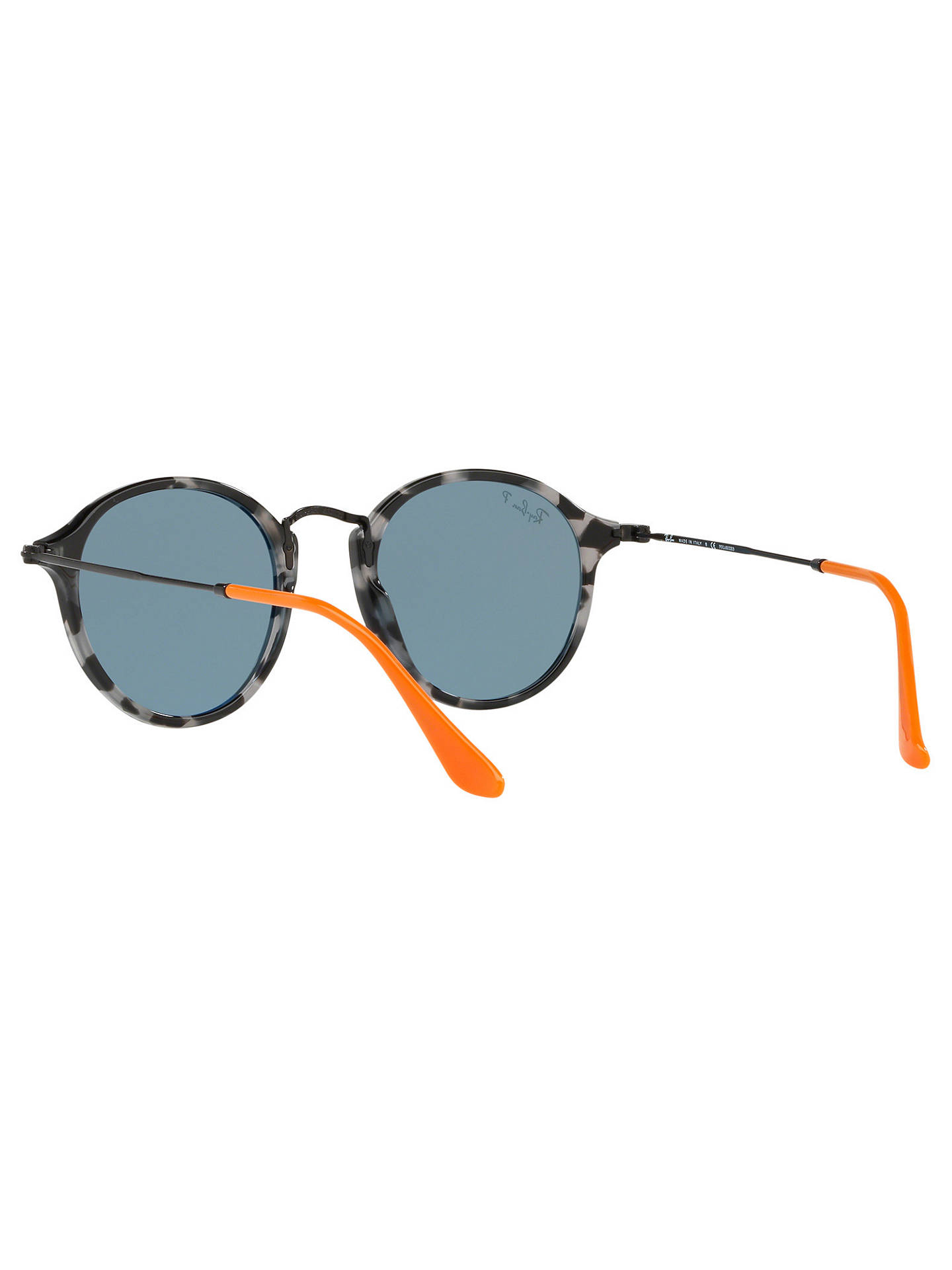 Buy Ray-Ban RB2447 Men's Round Sunglasses, Grey Tortoise/Blue Online at johnlewis.com