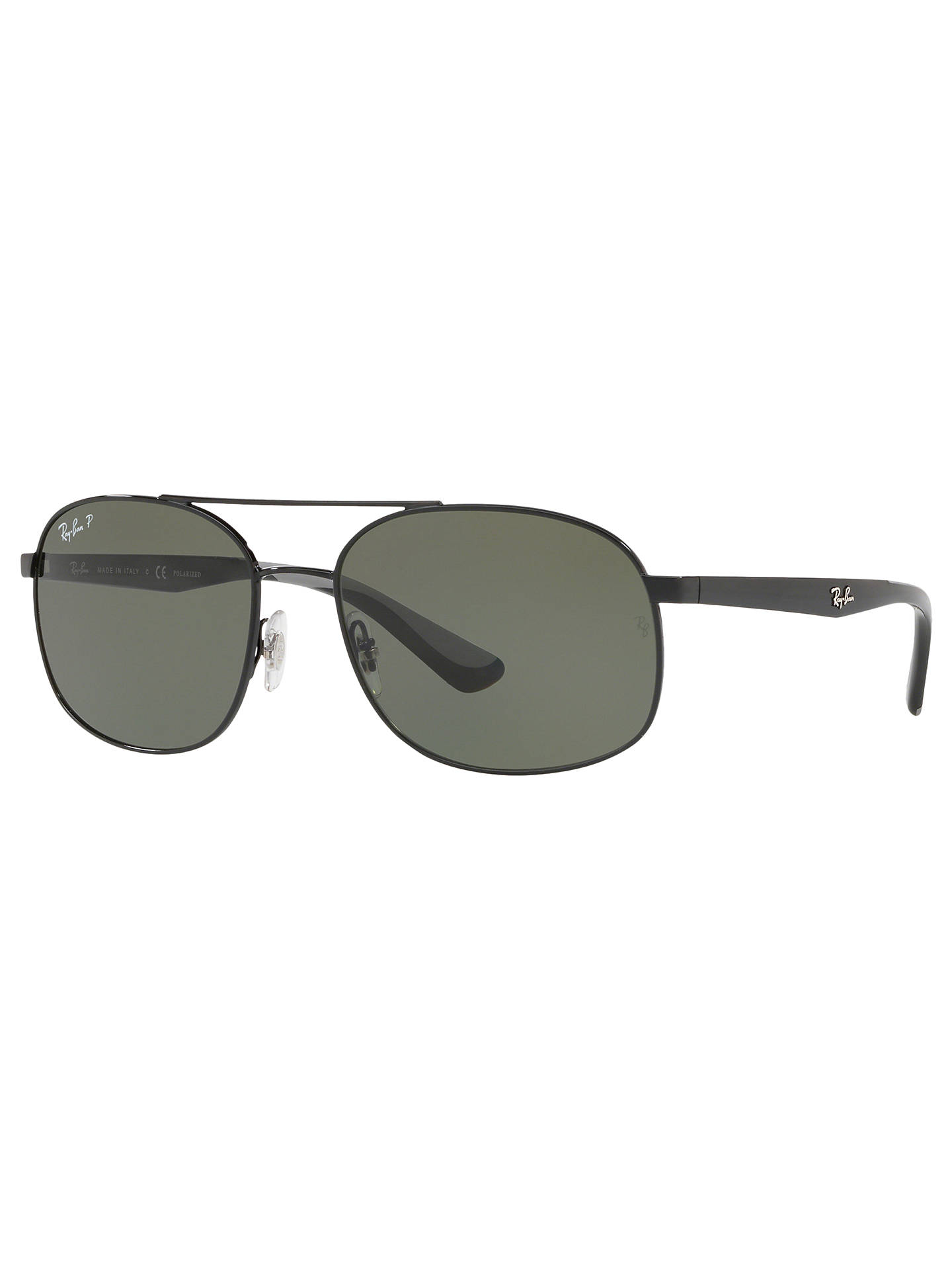 59bb60be5d Ray-Ban RB3593 Unisex Polarised Oval Sunglasses at John Lewis   Partners