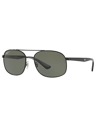 Ray-Ban RB3593 Unisex Polarised Oval Sunglasses