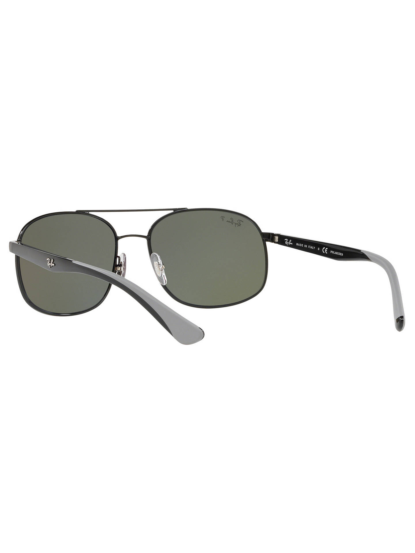 Buy Ray-Ban RB3593 Unisex Polarised Oval Sunglasses, Black/Grey Online at johnlewis.com