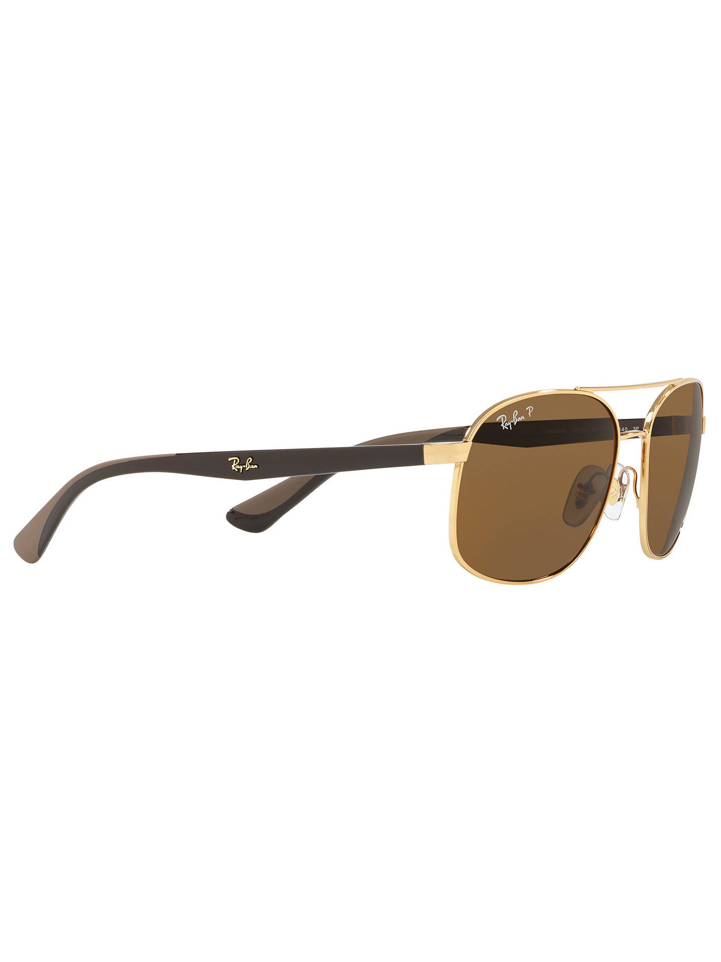 ec420e6407b7c Ray-Ban RB3593 Unisex Polarised Oval Sunglasses at John Lewis   Partners