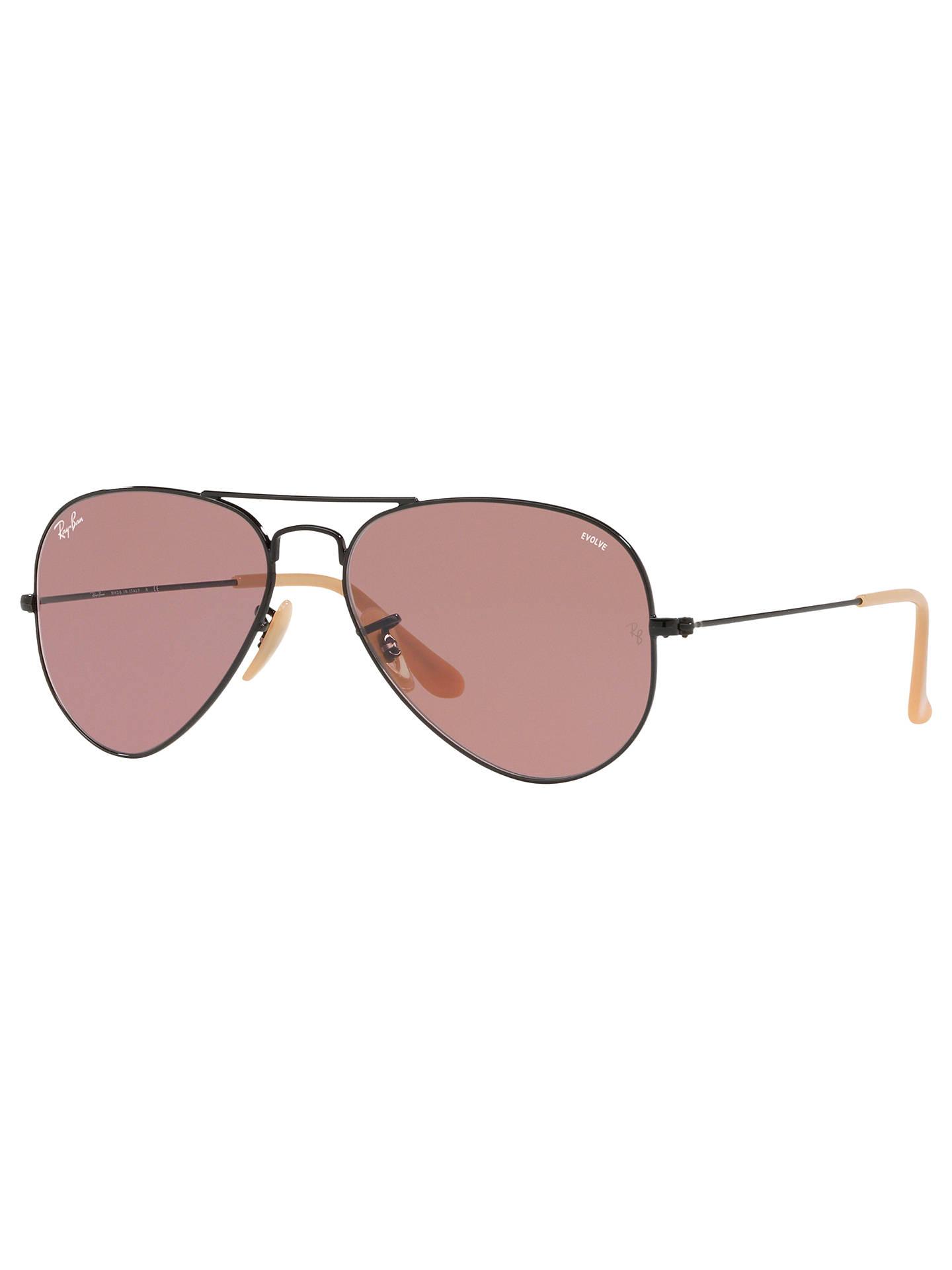 Ray-Ban RB3025 Men's Evolve Aviator Sunglasses, Black
