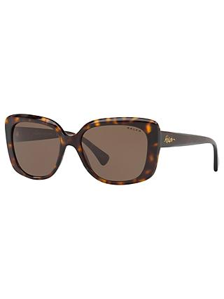 Ralph Lauren RA5241 Women's Square Framed Sunglasses, Tortoise/Brown