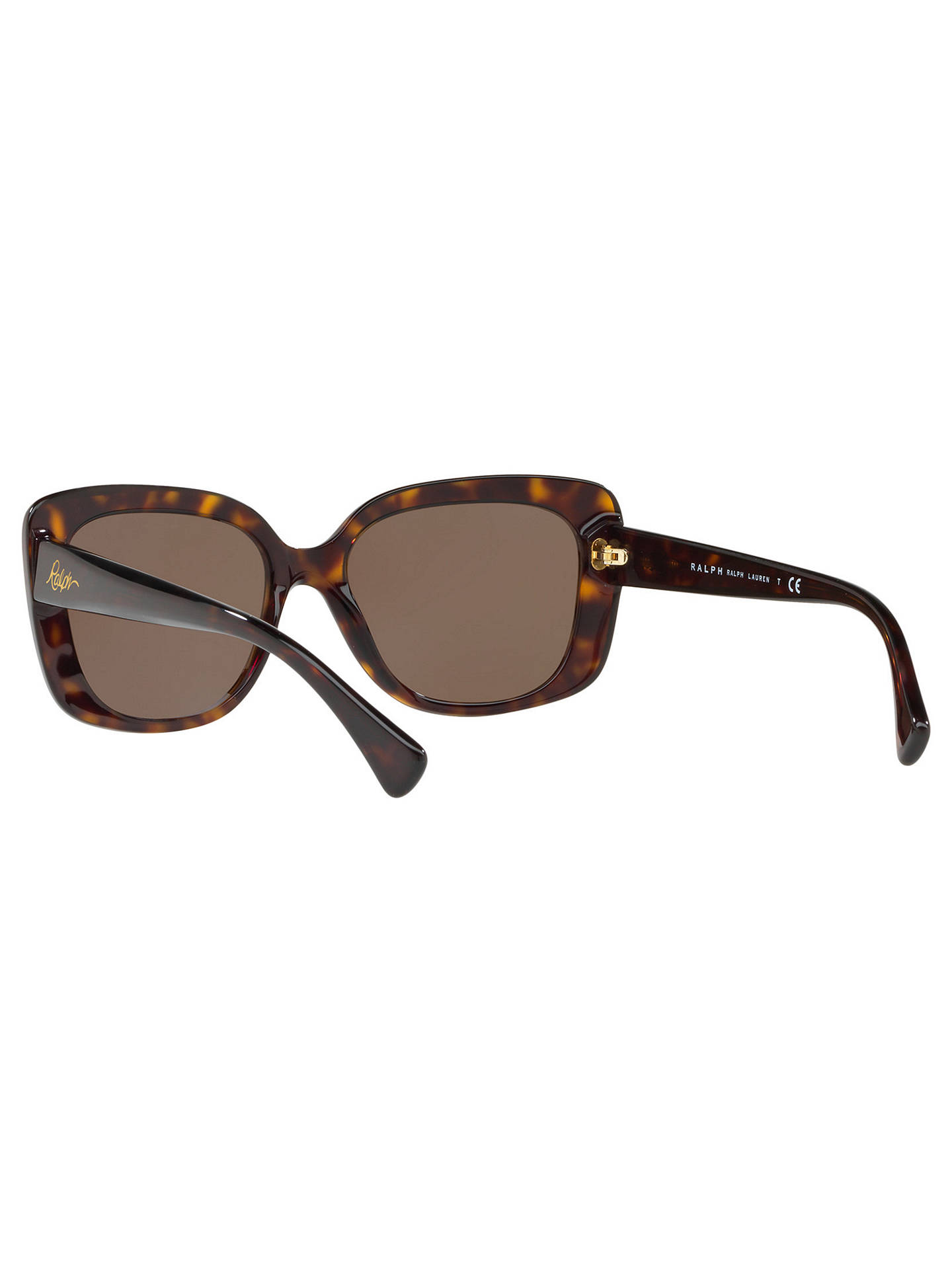 a3598a07 Ralph Lauren RA5241 Women's Square Framed Sunglasses, Tortoise/Brown