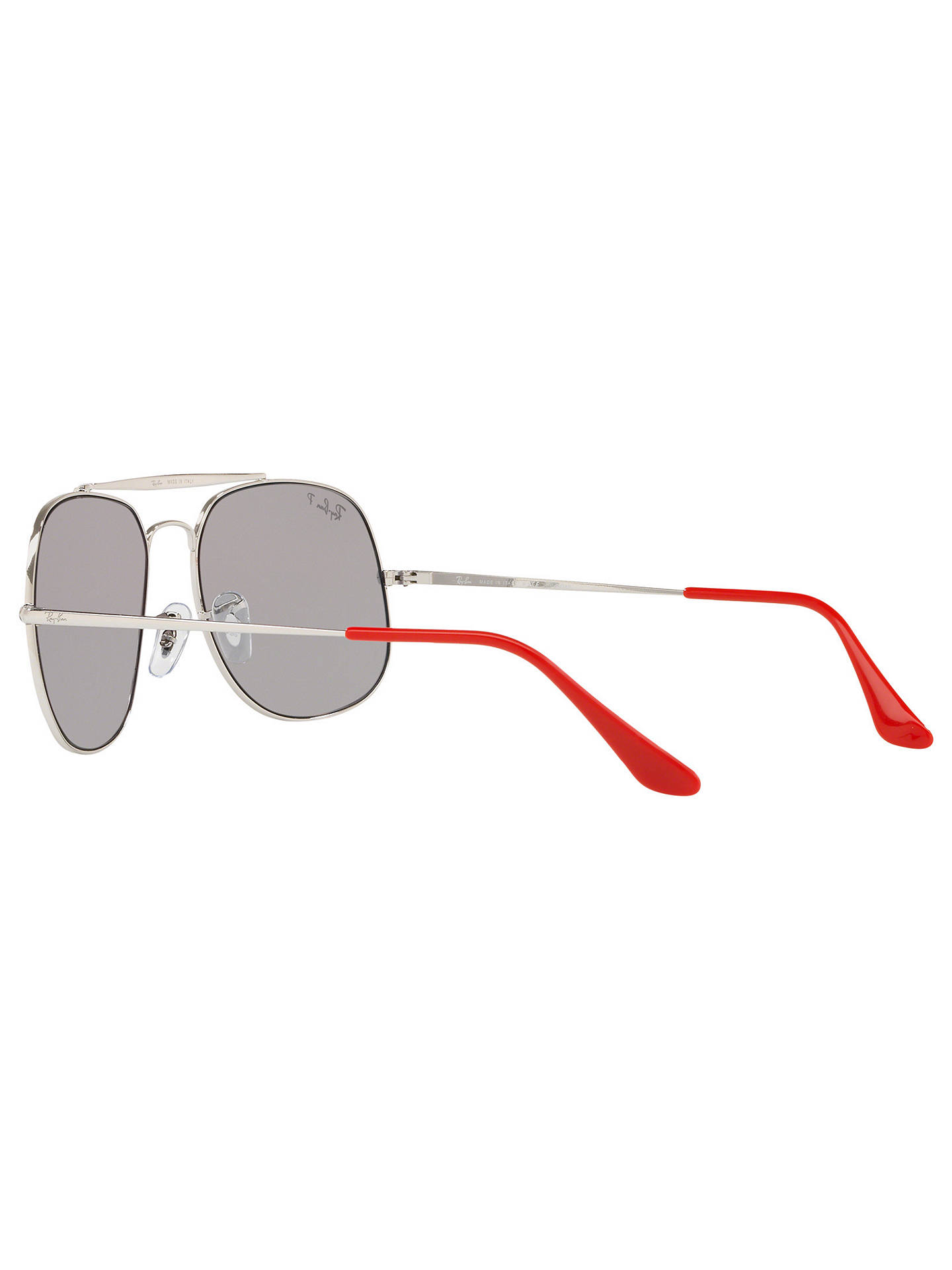 BuyRay-Ban RB3561 Men's The General Polarised Square Sunglasses, Silver/Grey Online at johnlewis.com