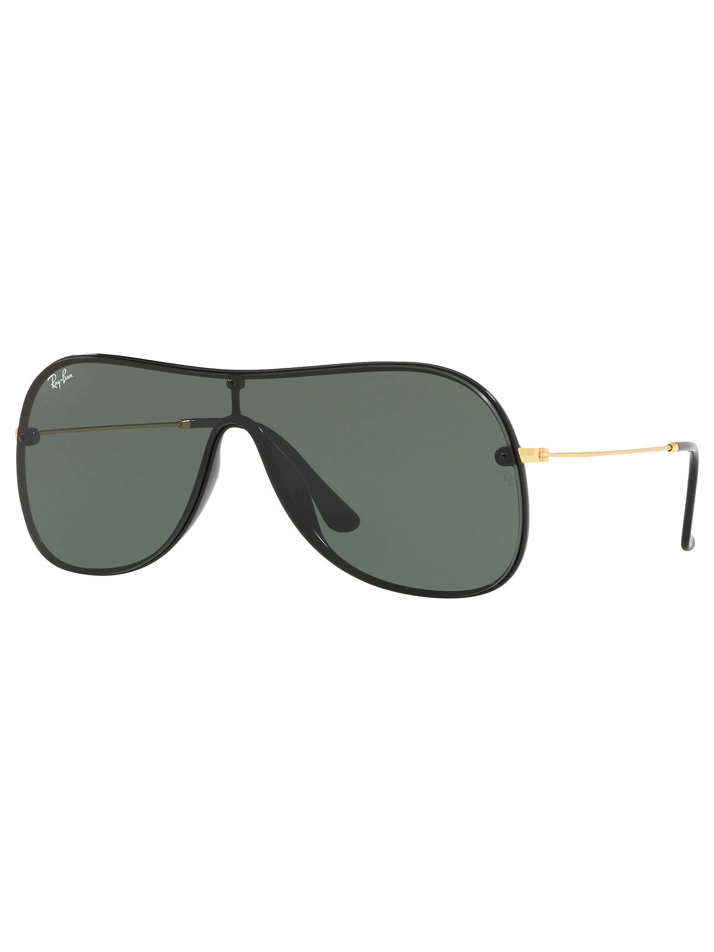 7ec7c7a9360287 BuyRay-Ban RB4311N Unisex Aviator Sunglasses, Black Green Online at  johnlewis.com ...