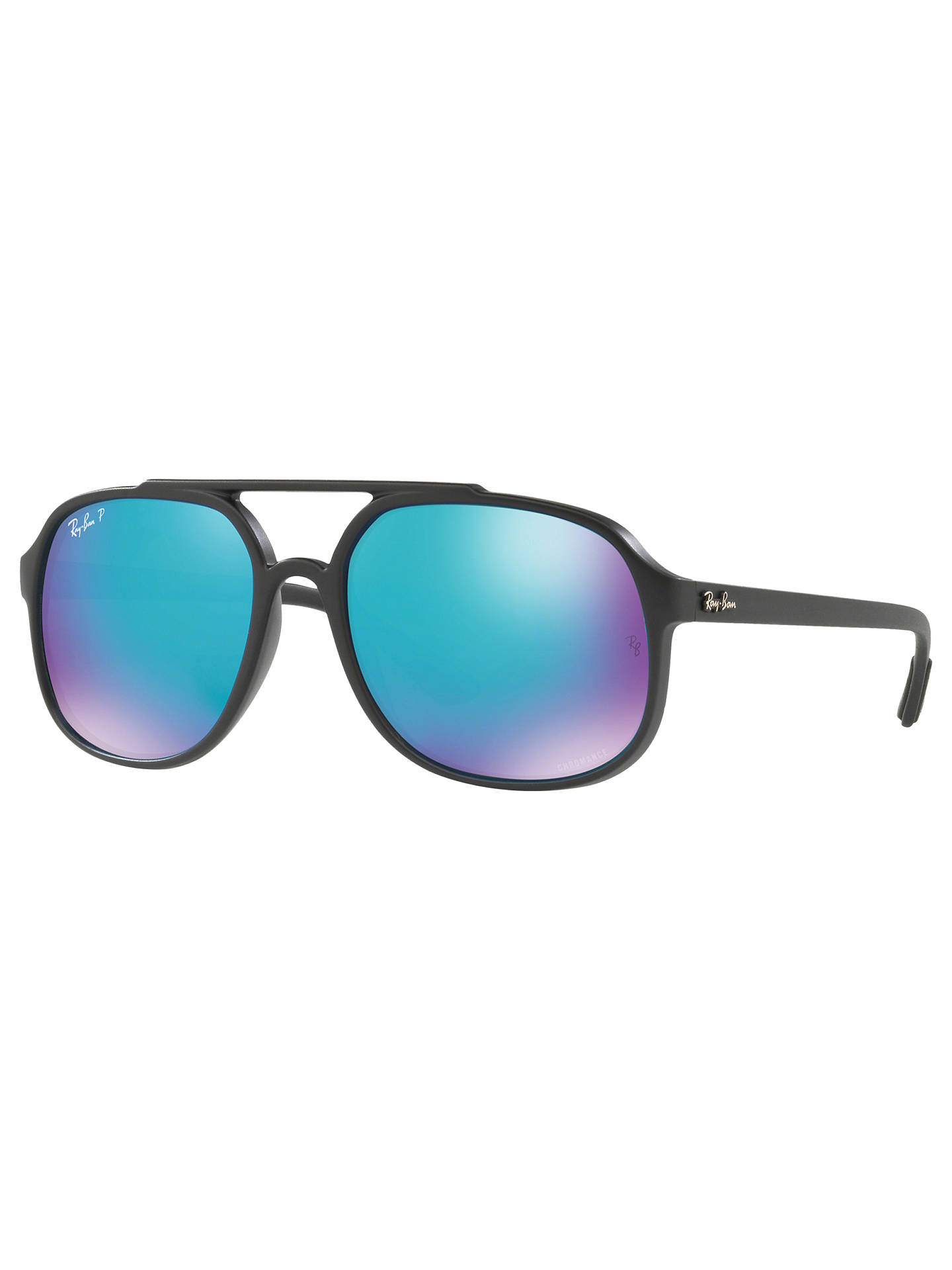 BuyRay-Ban RB4312 Men's Square Sunglasses, Black Online at johnlewis.com