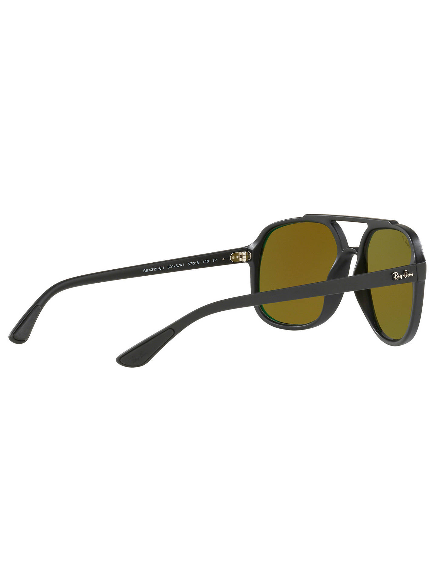 c4e67f31cff34f ... Buy Ray-Ban RB4312 Men's Square Sunglasses, Black Online at johnlewis.  ...
