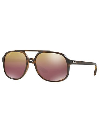 Ray-Ban RB4312 Men's Gradient Polarised Sunglasses, Tortoise/Brown