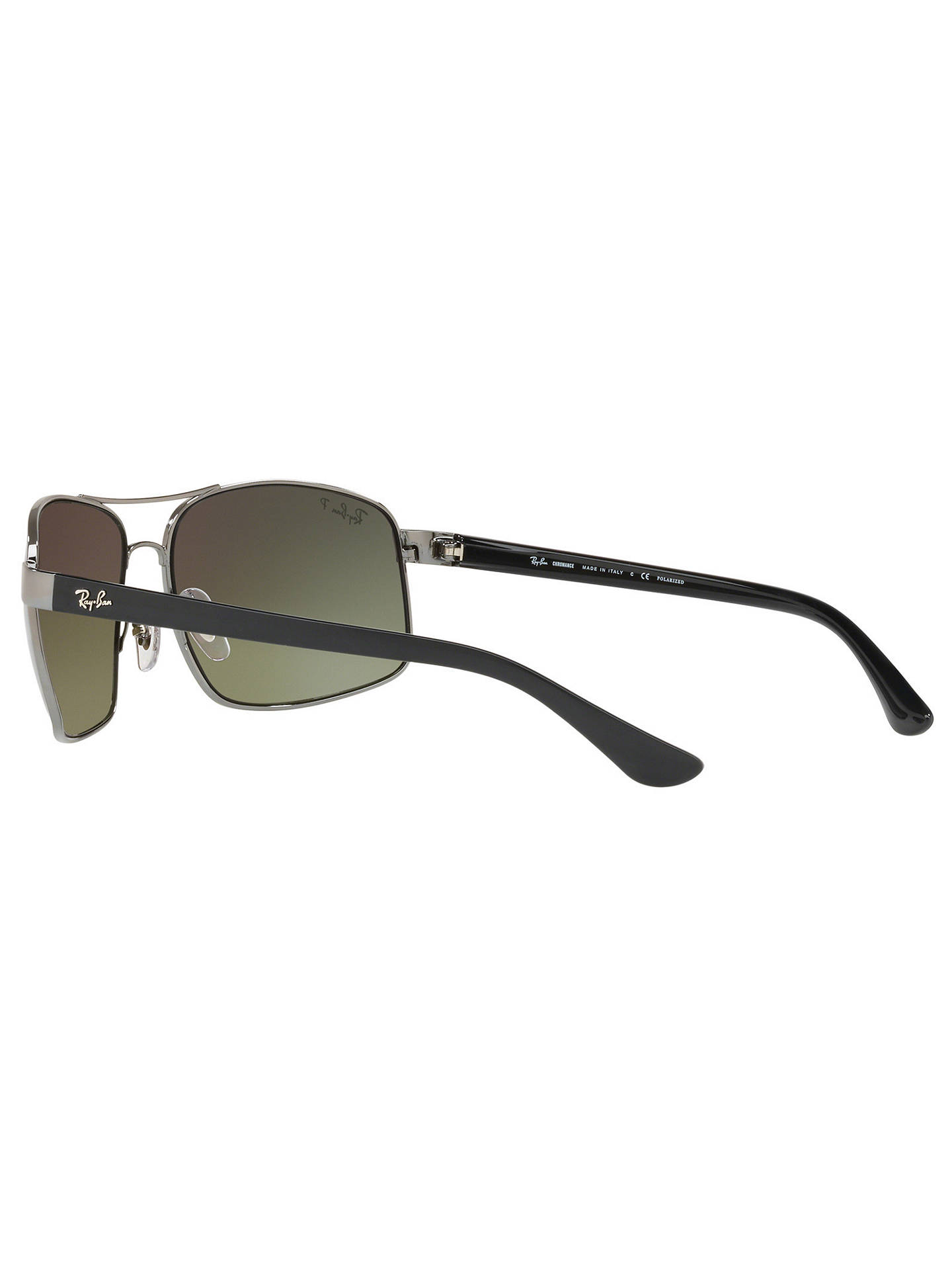 BuyRay-Ban RB3604 Men's Square Sunglasses, Grey Online at johnlewis.com