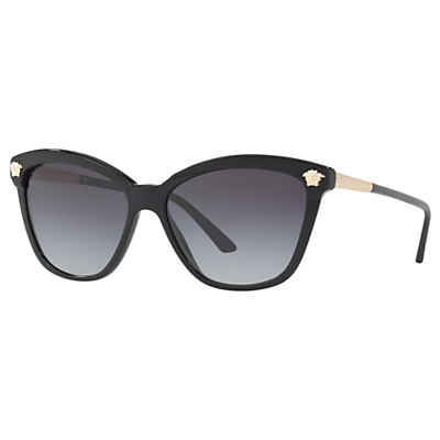 Versace VE4313 Women's Rectangular Sunglasses, Black/Gradient