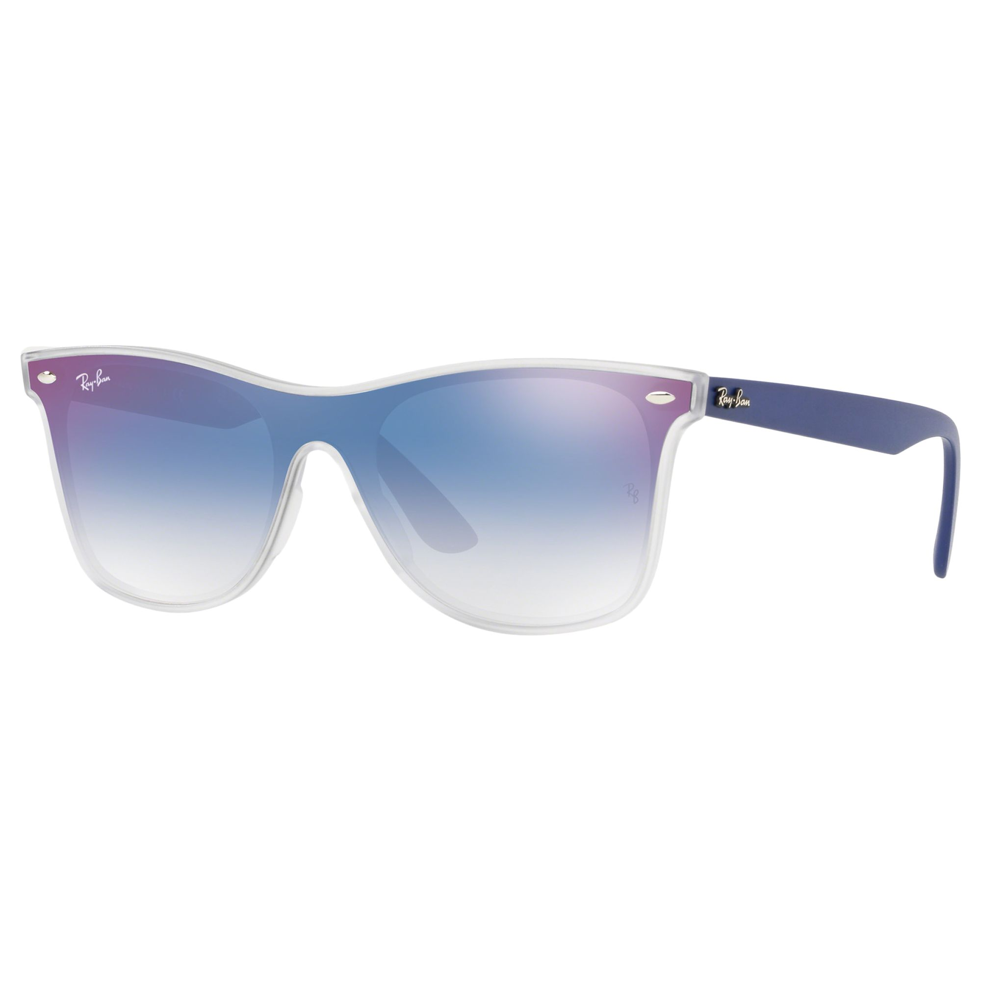 Ray-ban Ray-Ban RB4440 Unisex Polarised Mirrored Sunglasses, Blue