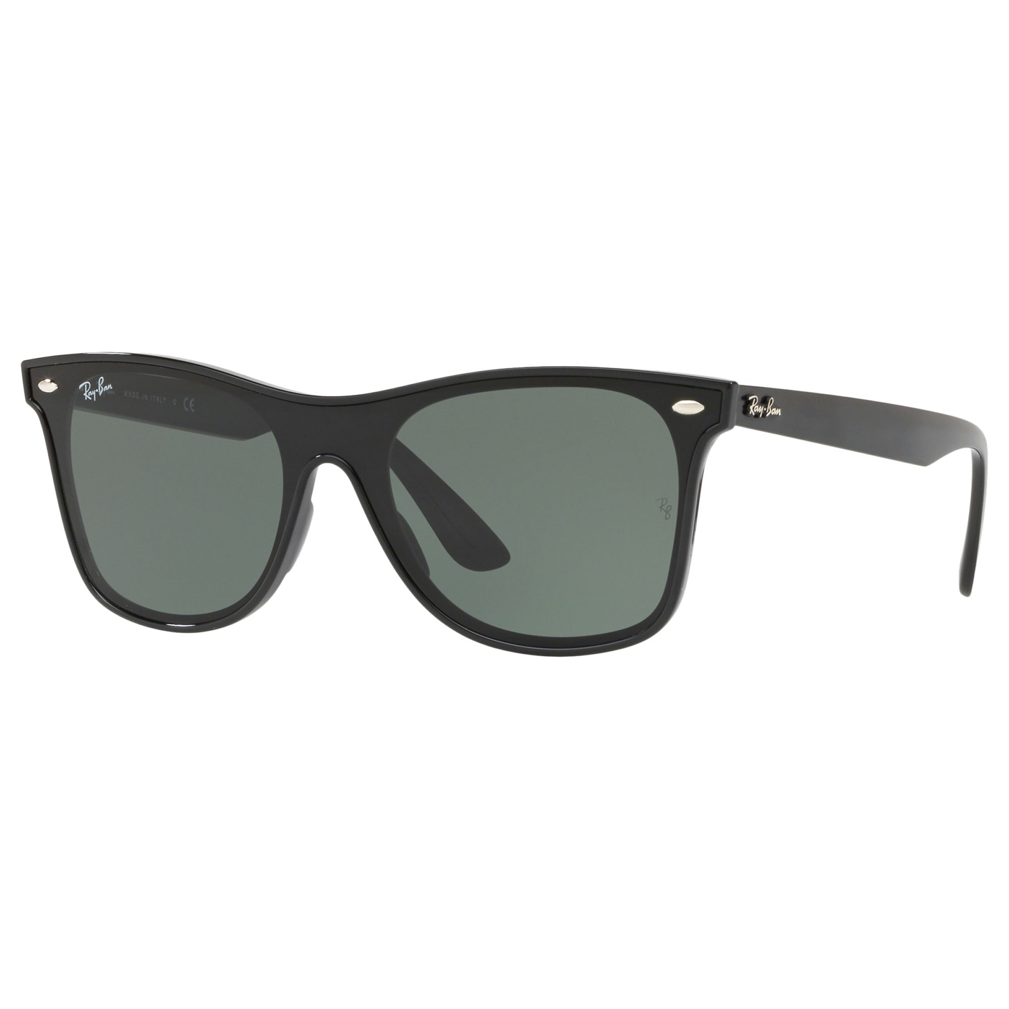 Ray-ban Ray-Ban RB4440 Unisex Polarised Sunglasses, Black/Green