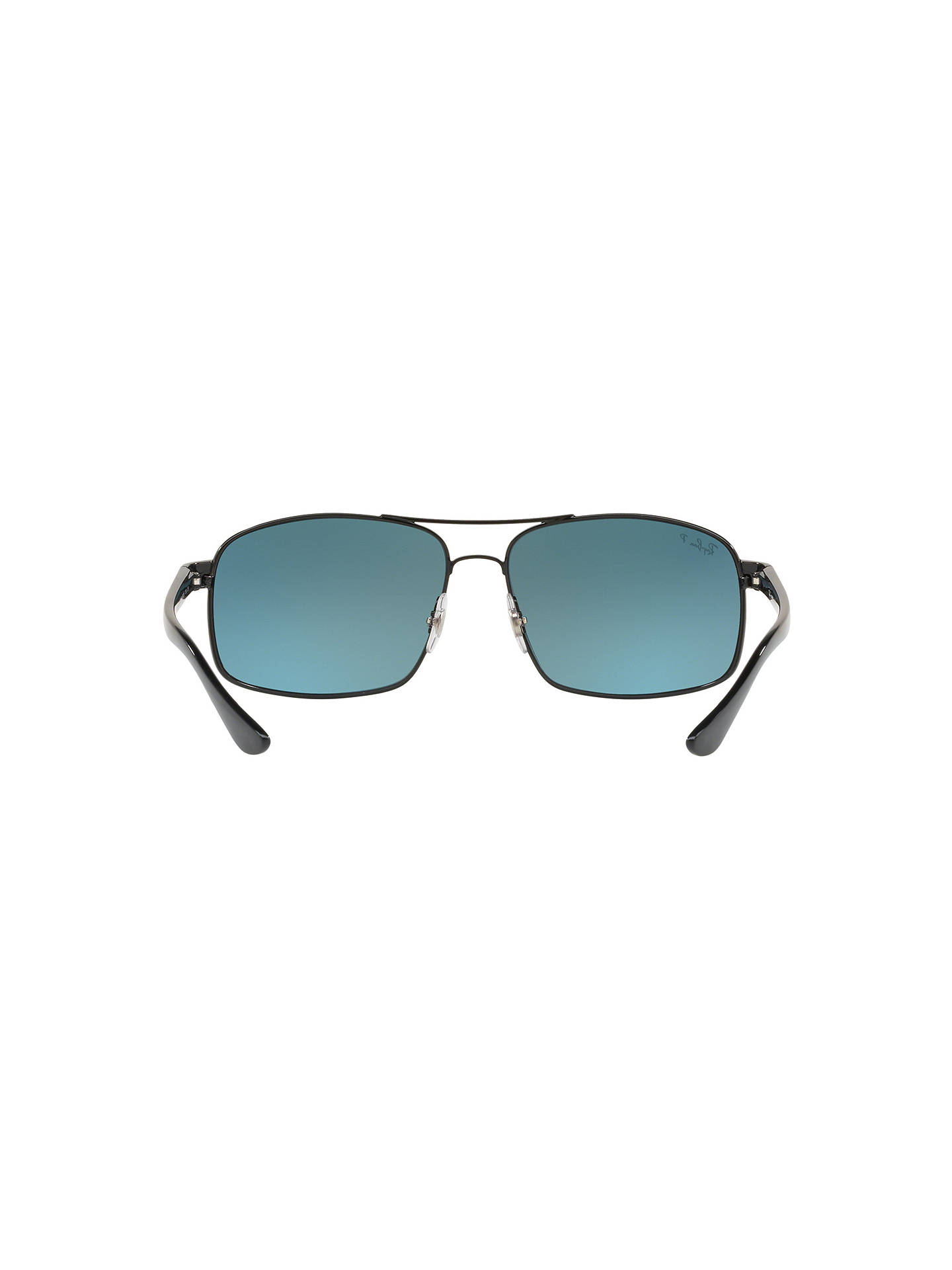 Buy Ray-Ban RB3604 Men's Square Sunglasses, Black Online at johnlewis.com
