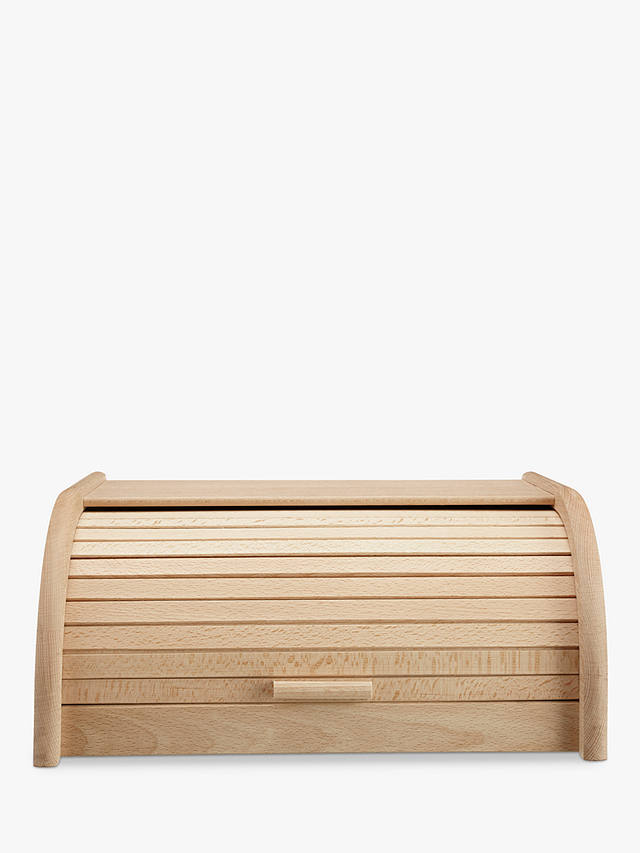 Buy John Lewis & Partners Classic Wood Roll Top Bread Bin, W40cm Online at johnlewis.com